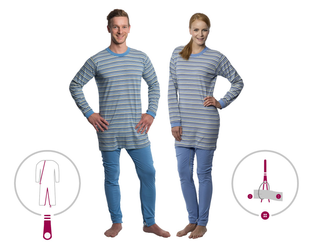 suprima 4708 Pflegeoverall Pyjama CareFunction
