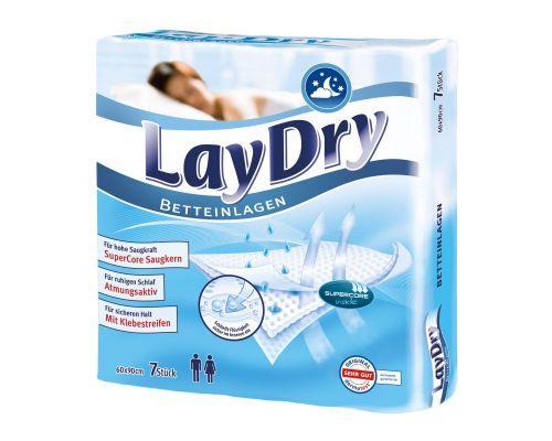 LayDry Betteinlagen mit Klebestreifen
