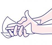 Seni Care Feuchttücher Anwendung Hand