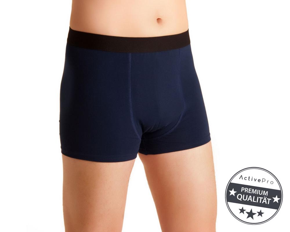 """ActivePro Men """"Blau-schwarz"""" Inkontinenz-Shorts"""