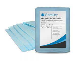 CareDry Krankenunterlagen SAP Plus PREMIUM 60x90