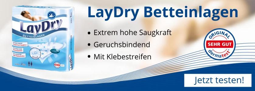 LayDry Betteinlagen - Jetzt testen!