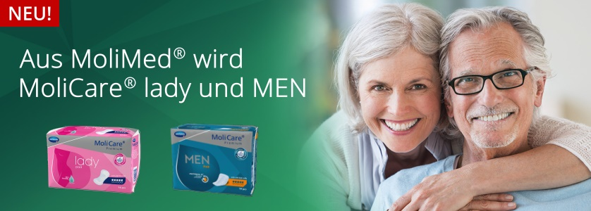 Aus MoliMed wird MoliCare lady und MoliCare MEN