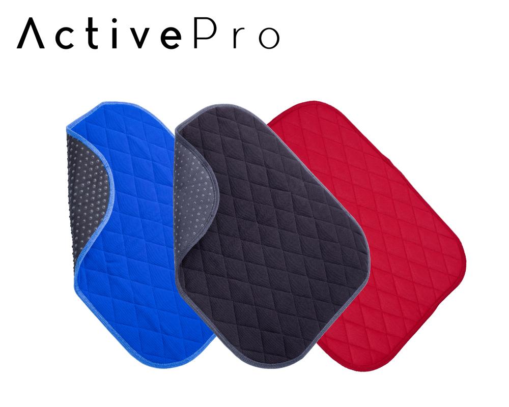 ActivePro Inkontinenz Sitzauflage 40×50 cm mit Antirutschnoppen blau, schwarz und rot