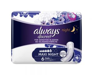 always Discreet Inkontinenz Einlagen Maxi Night