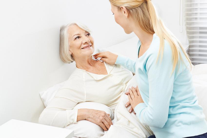 Haut- und Koerperpflege in der Altenpflege