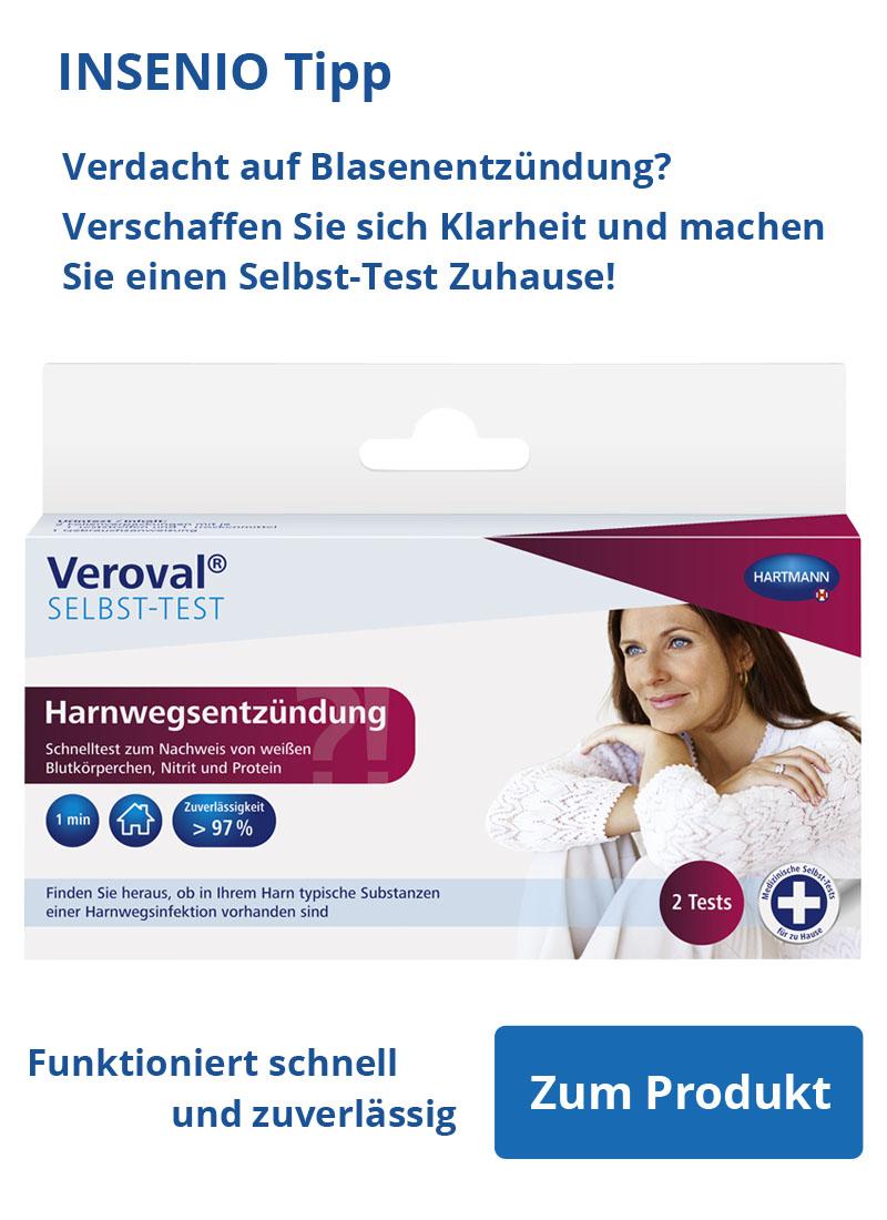 Ratgeber Veroval Blasenentzündung INSENIO Tipp