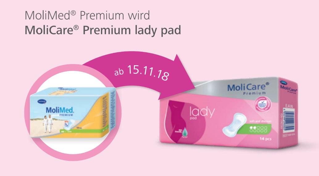 Molicare Premium Lady Pad 3 Tropfen Molimed Premium Midi