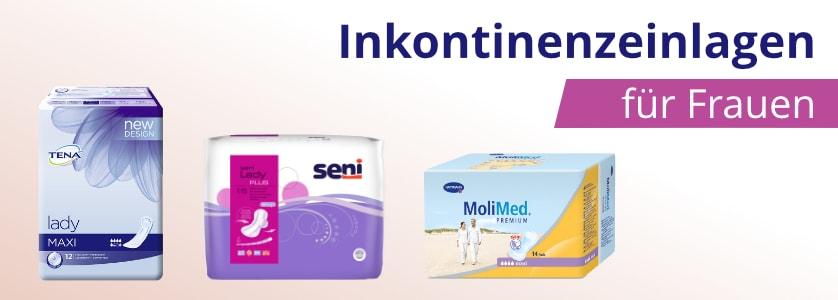Inkontinenzeinlagen für Frauen