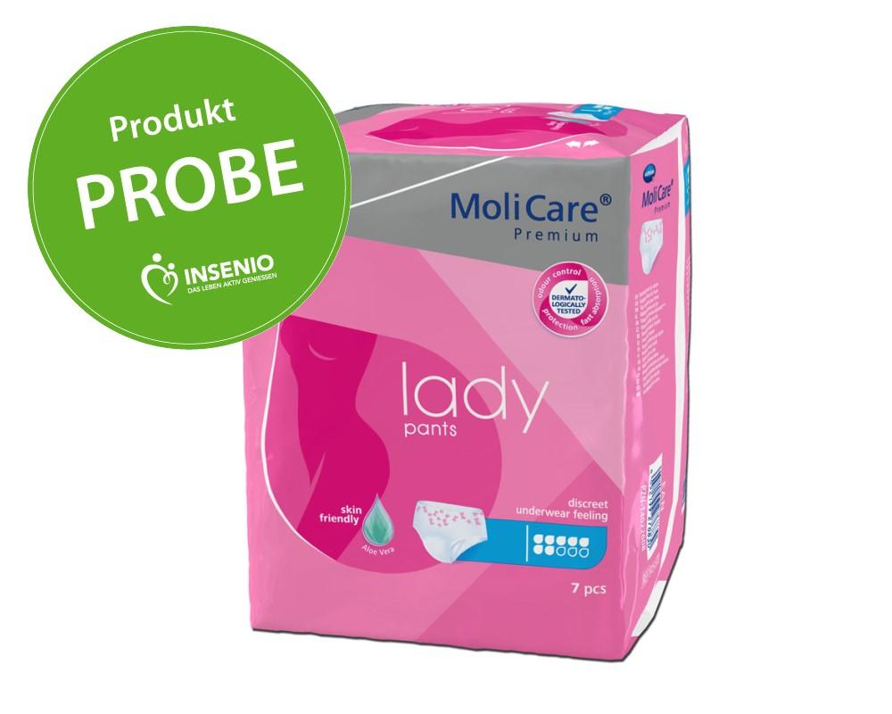 Produktprobe MoliCare Premium lady pants 7 Tropfen