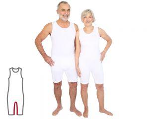 ActivePro Pflegebody ärmellos Beinreißverschluss weiß vorne