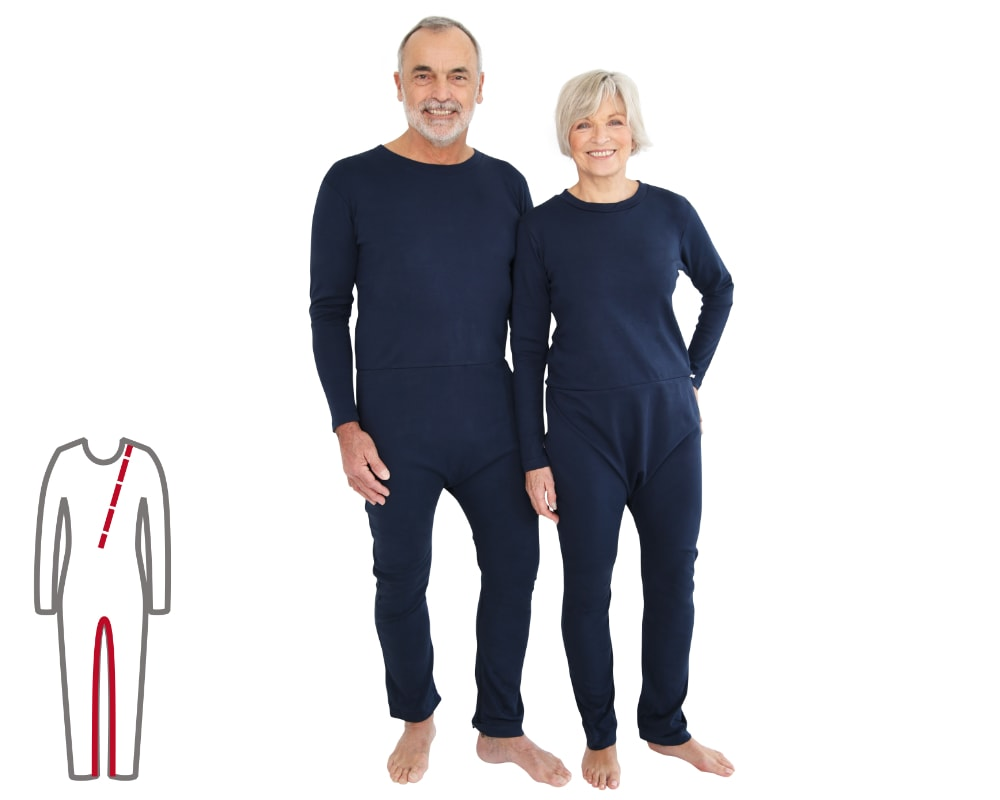 ActivePro Pflegeoverall lang Bein- und Rückenreißverschluss vorne