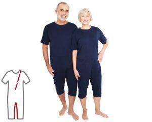 ActivePro Pflegeoverall kurz Bein- und Rückenreißverschluss vorne