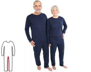 ActivePro Pflegeoverall lang Beinreißverschluss vorne