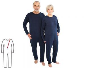 ActivePro Pflegeoverall lang Rückenreißverschluss vorne