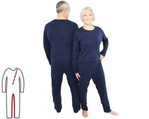 ActivePro Pflegeoverall lang Bein- und Rückenreißverschluss vorne und hinten