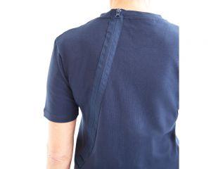 ActivePro Pflegeoverall kurzarm Nahaufnahme Rückenreißverschluss