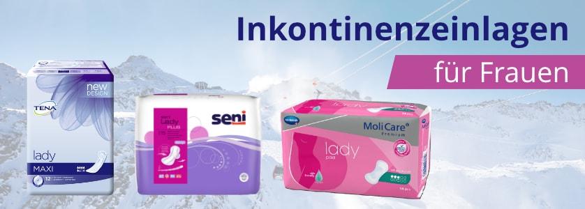 Inkontinenzeinlengen für Frauen