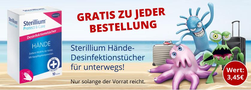Gratis für Sie: Sterillium Hände-Desinfektionstücher